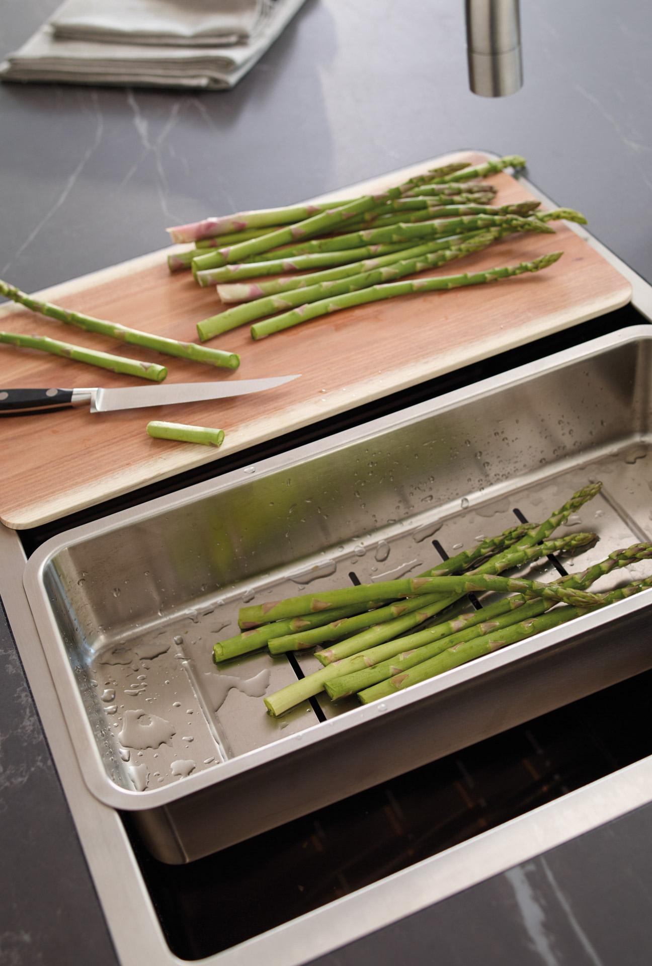 Accesorio de menaje de cocina abierta con isla