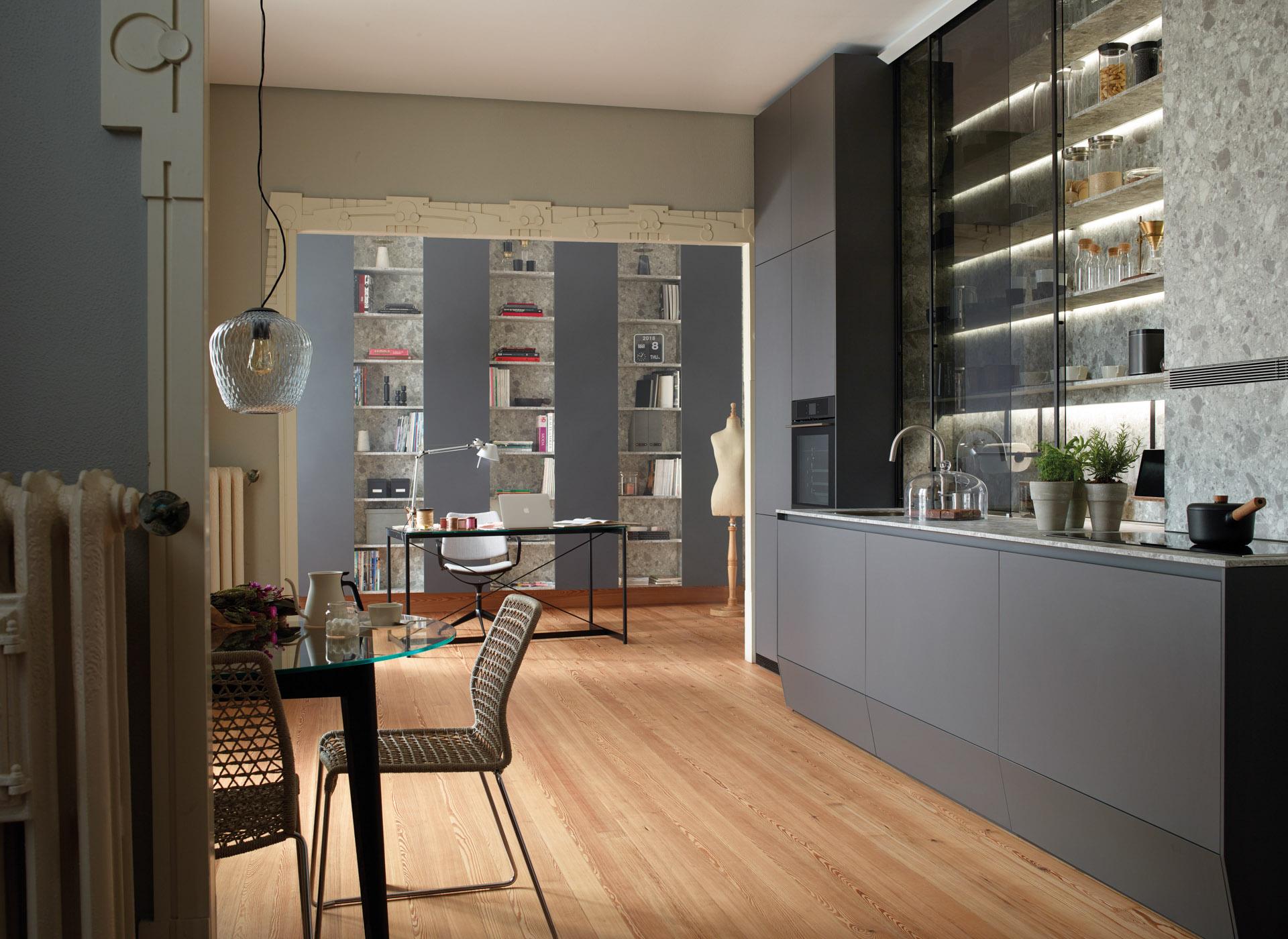 cocina-lineal-abierta-a-comedor-y-estudio