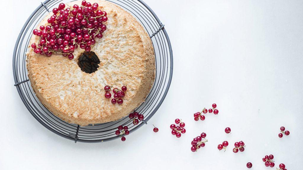 Receta de Angel food cake en calendario 2018 de cocinas Santos