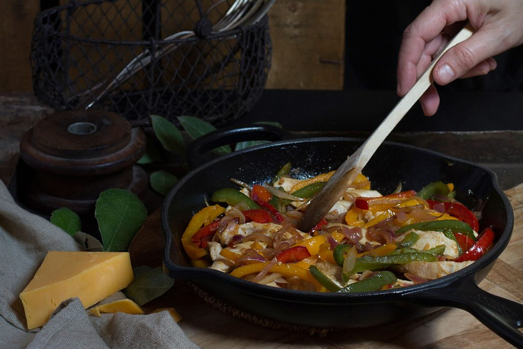 Recipe for chicken fajitas by Santos Kitchens