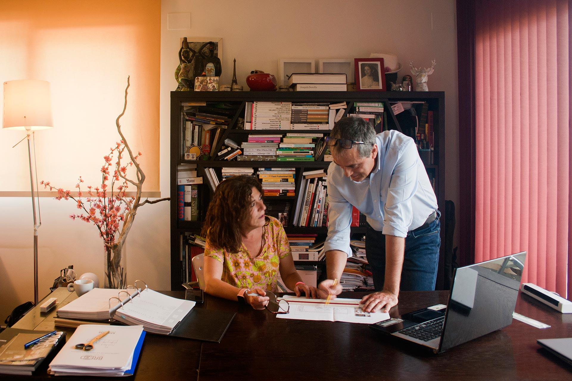 Esther Carmona en Ramón Arévalo, directeuren van Santos Brezo