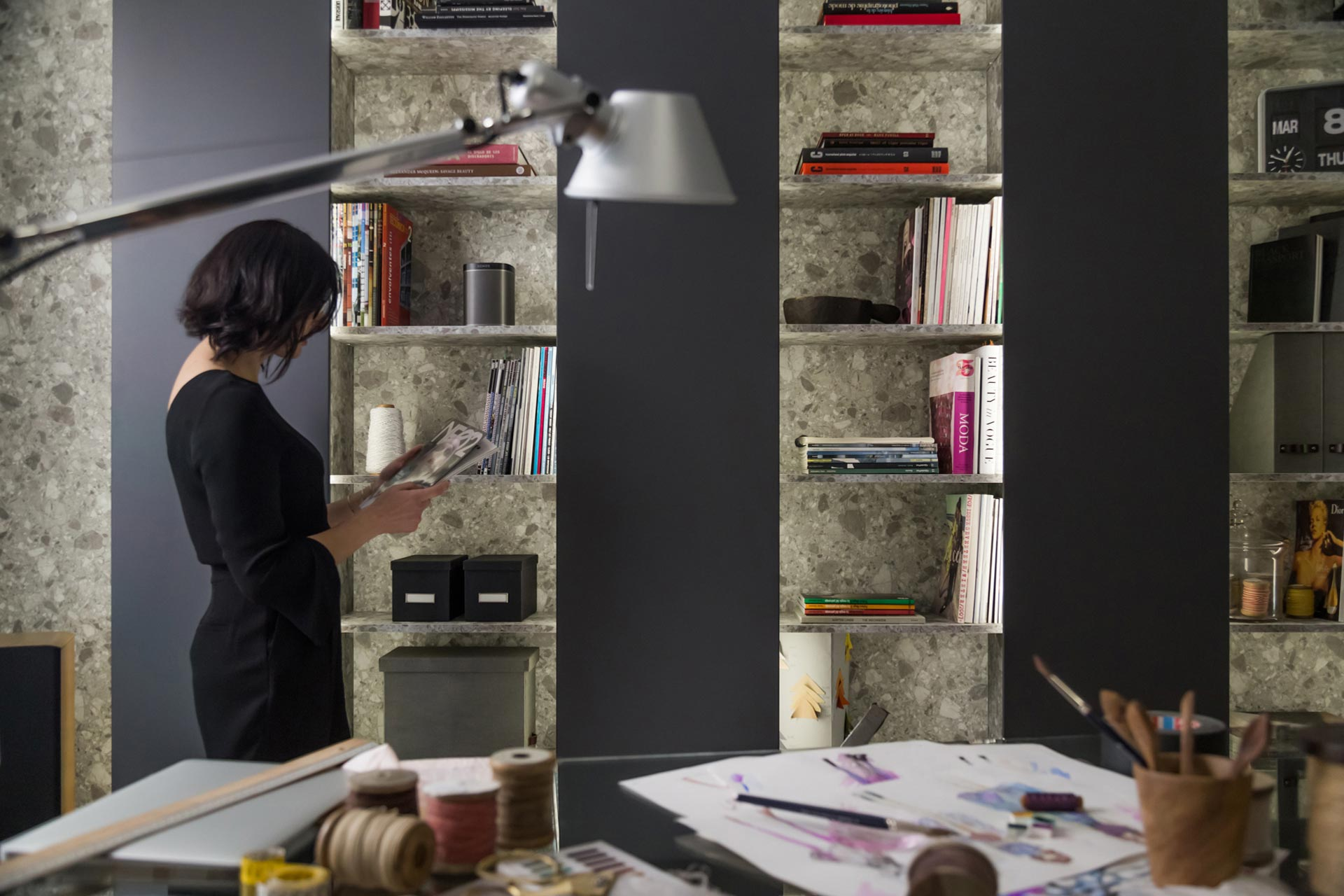 Santos presents its new shelving system for the living room