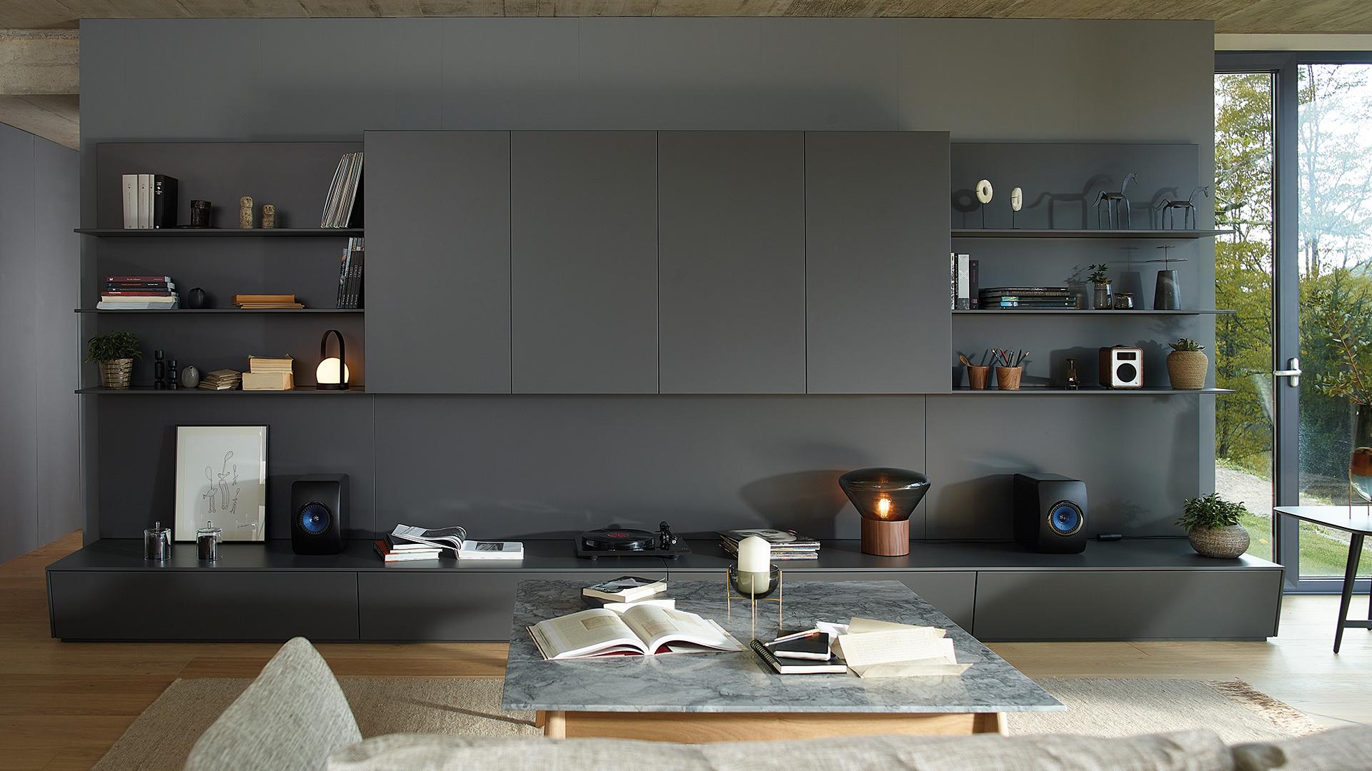 Muebles de salón y cocina integrados y modulares Santos