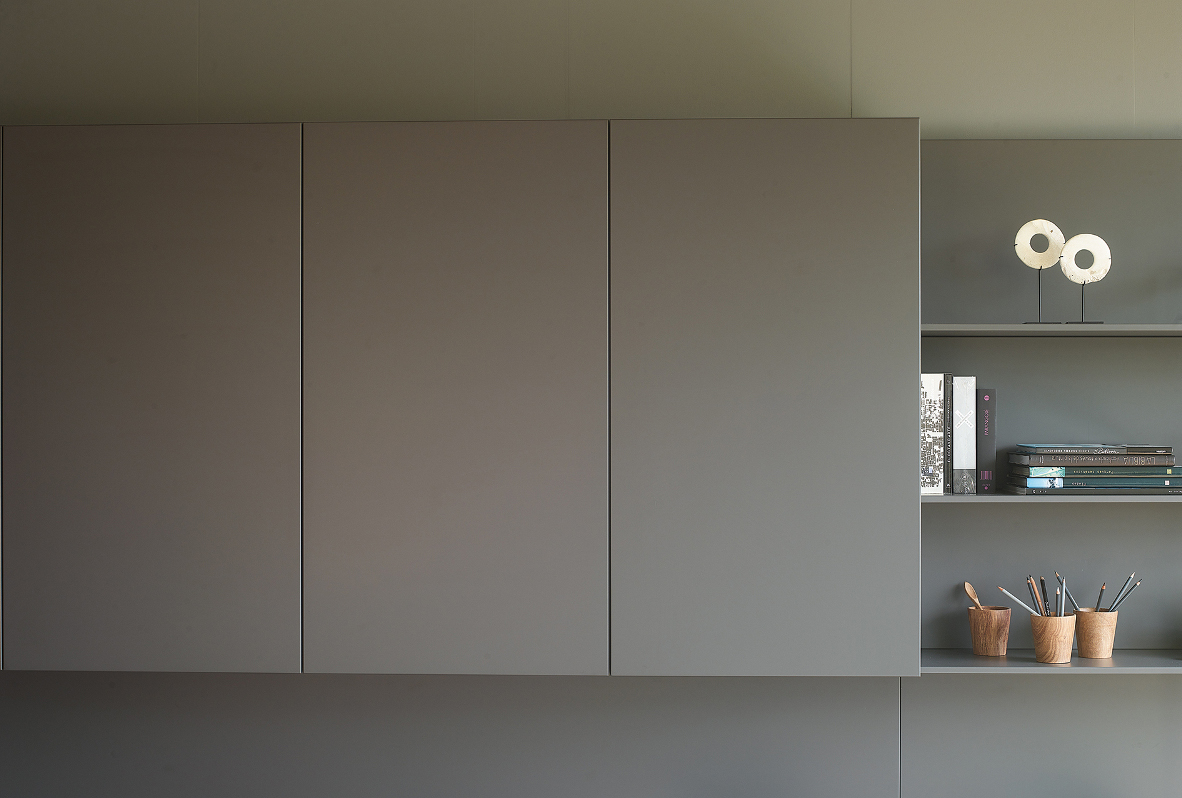 Mueble funcional de salón color gris Santos