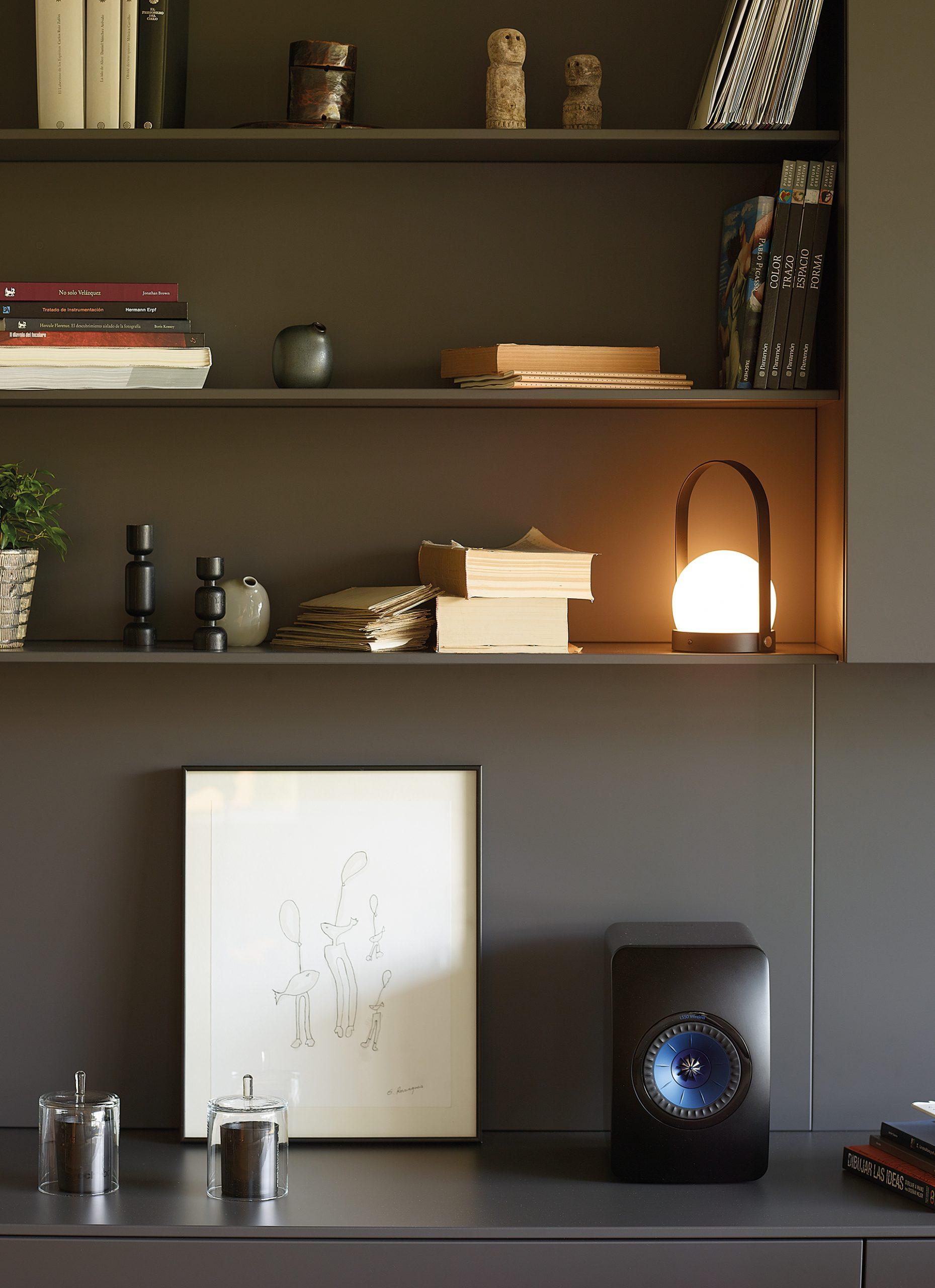 Estanterías muebles de salón integrado para libros