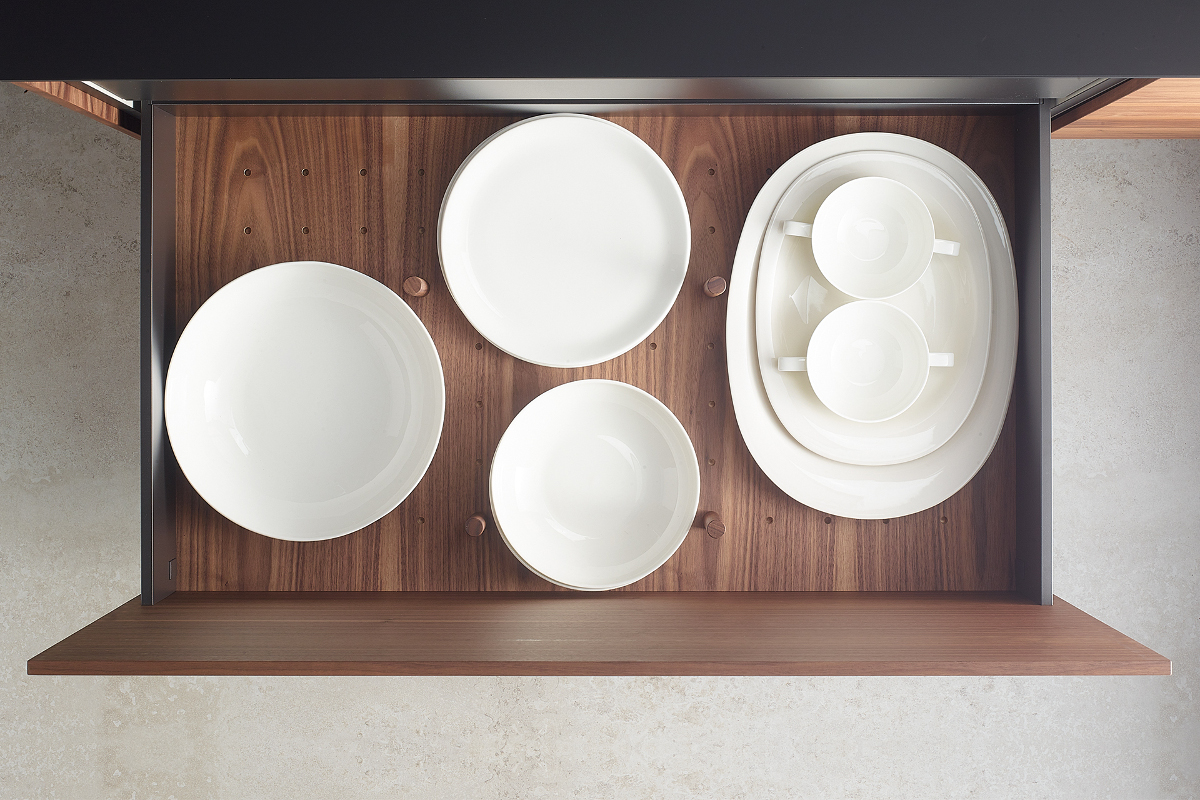 Plate rack accessories for Santos kitchens