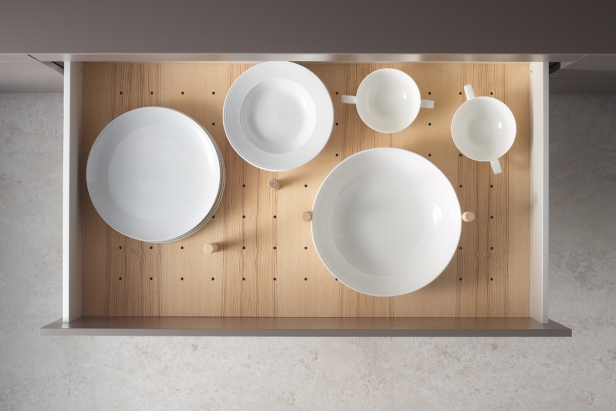 Wooden plate rack accessory for Santos kitchens