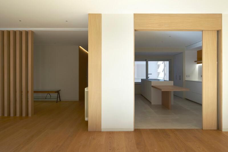Cozinha e sala com divisória