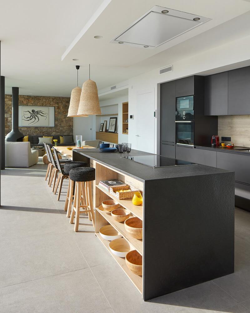 Cozinha Santos com ilha numa casa de férias de sonho