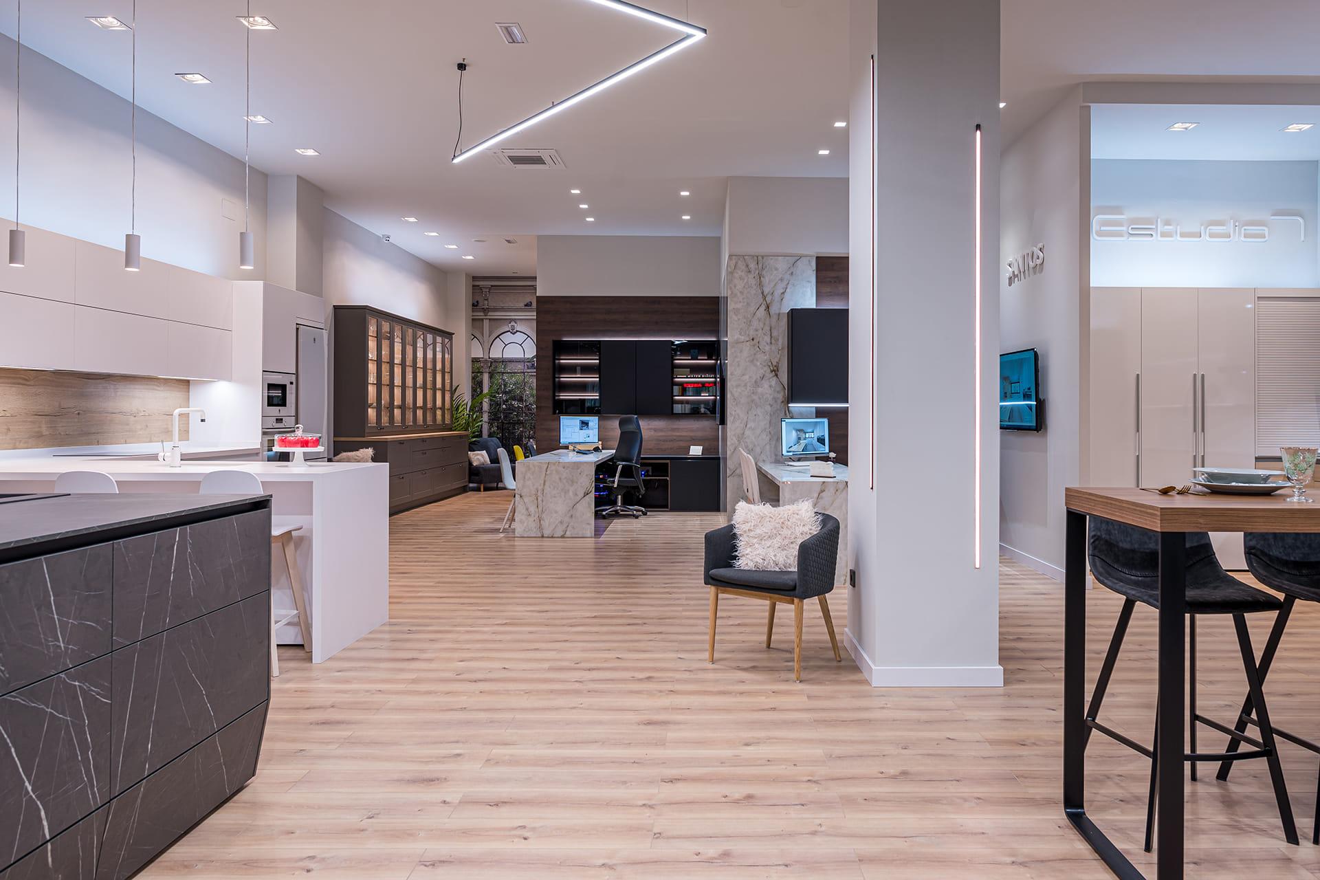 Santos kitchen cabinets. Estudio 7 kitchen display