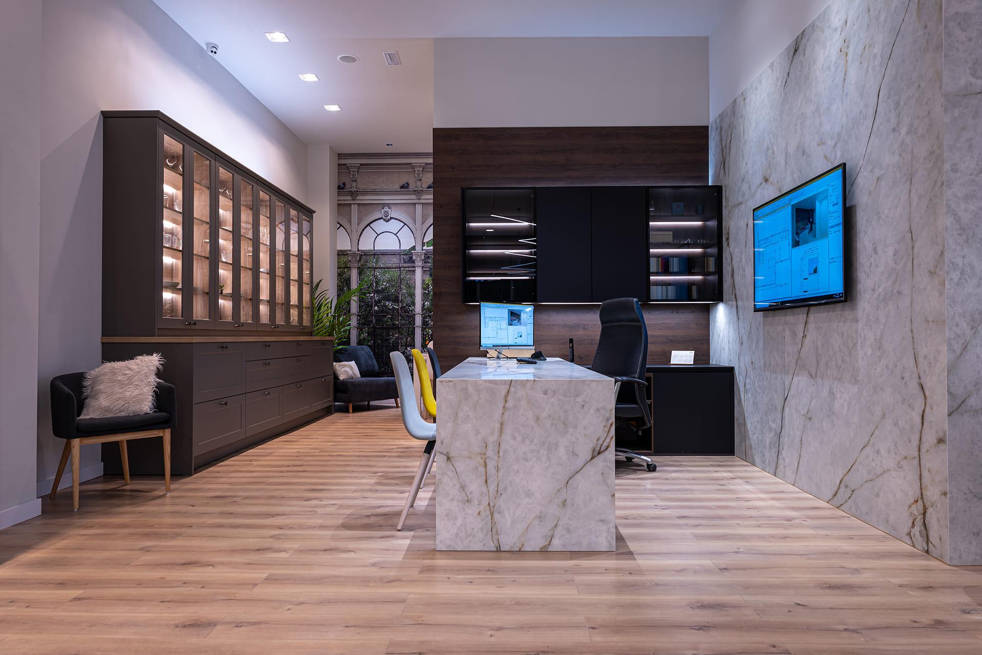 Santos Estudio 7 kitchen showroom
