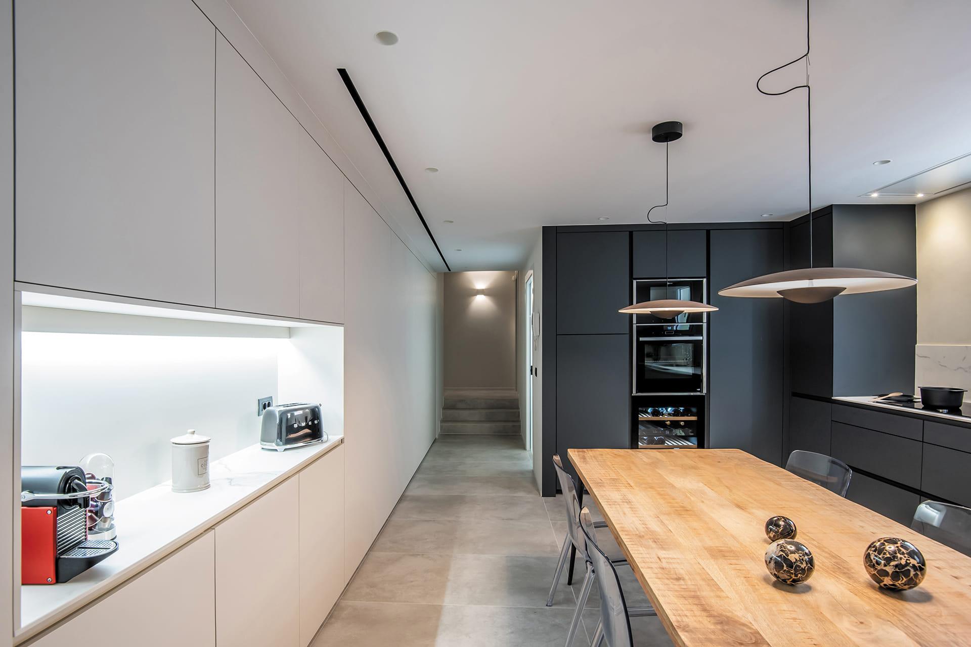 Wit met grijze keuken Santos